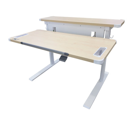 BD1080 Ergonomic Standing Desk - Maple