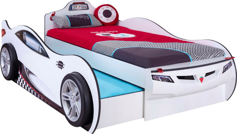 Coupe Carbed With Friend Bed (White)