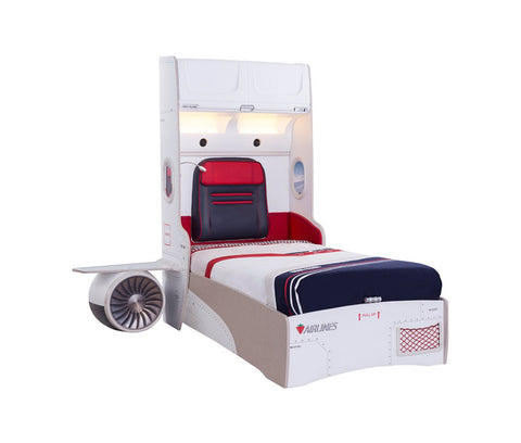 FIRST CLASS AIRPLANE BED WITH BASE AND STORAGE