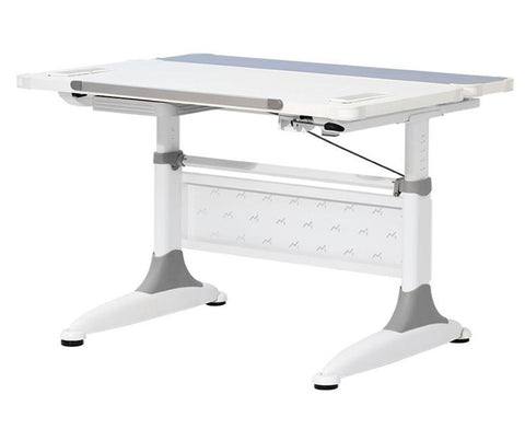 KM2 Ergonomic Writing Desk / Blue & White