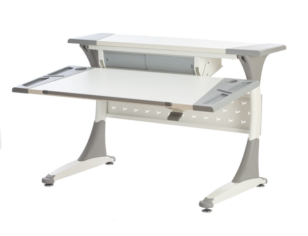 M10 Kepler Ergonomic Standing Desk (White | Grey)