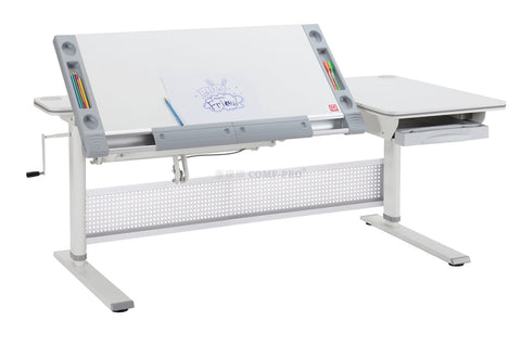 M9 Encore Ergonomic Standing Desk (White | Grey)