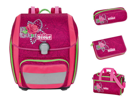 Scout Genius Backpack - Rose (4 pcs set)