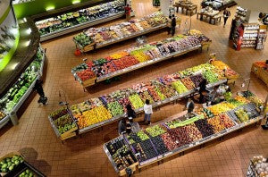 Grocery Store Display of Produce