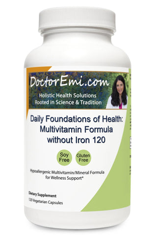 Daily Foundations of Health Multivitamin Formula Without Iron 120