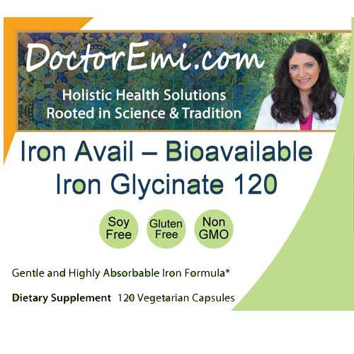 Iron Avail – Bioavailable Iron Glycinate 120