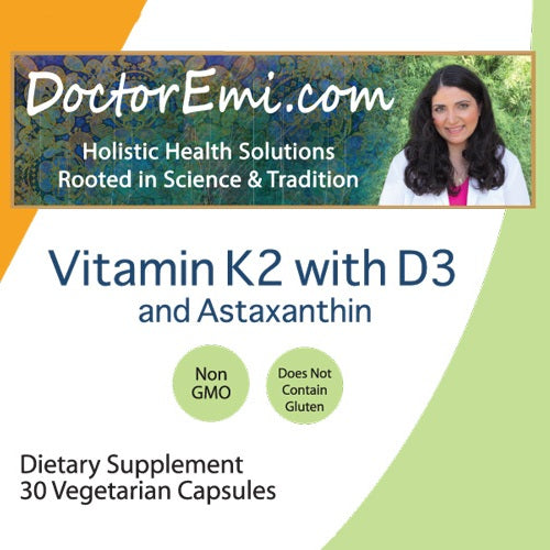 Vitamin K2 with D3 and Astaxanthin label