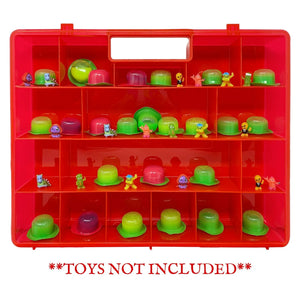 Life Made Better, Red Toy Box & Organizer Case, Compatible with Pop Pops Pets & Snotz Toys, Perfect for Storing at Home or Traveling.