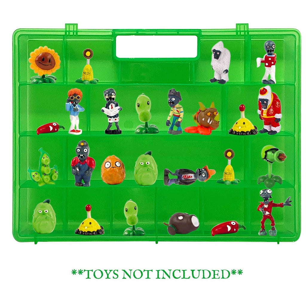 Life Made Better Stronger, Well-Built Kid Durable Green Toy Storage Case, Compatible to fit Plants vs Zombies, Carrying Case for Toy Figures by LMB
