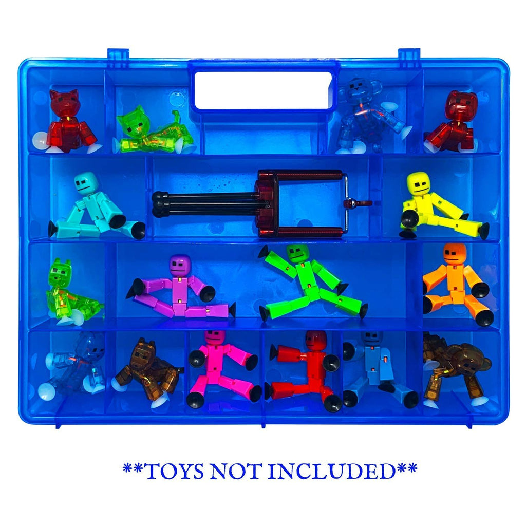 Life Made Better Well-Made Strong Toy Case, Protector & Organizer Storage Carry-Along, Compatible with Stickbots, not Created by Stickbots