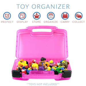 Life Made Better Little People Case, Toy Storage Carrying Box. Figures Playset Organizer. Accessories For Kids by LMB