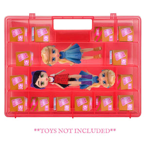 Life Made Better Dolls & Accessories Pink Toy Holder, Compatible with Boxy Girls Dolls