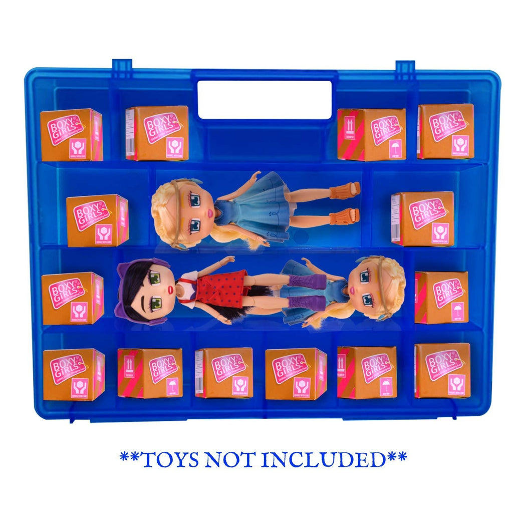 Life Made Better Dolls & Accessories Blue Toy Organizer Case, Compatible with Boxy Girls Dolls, Doll Storage