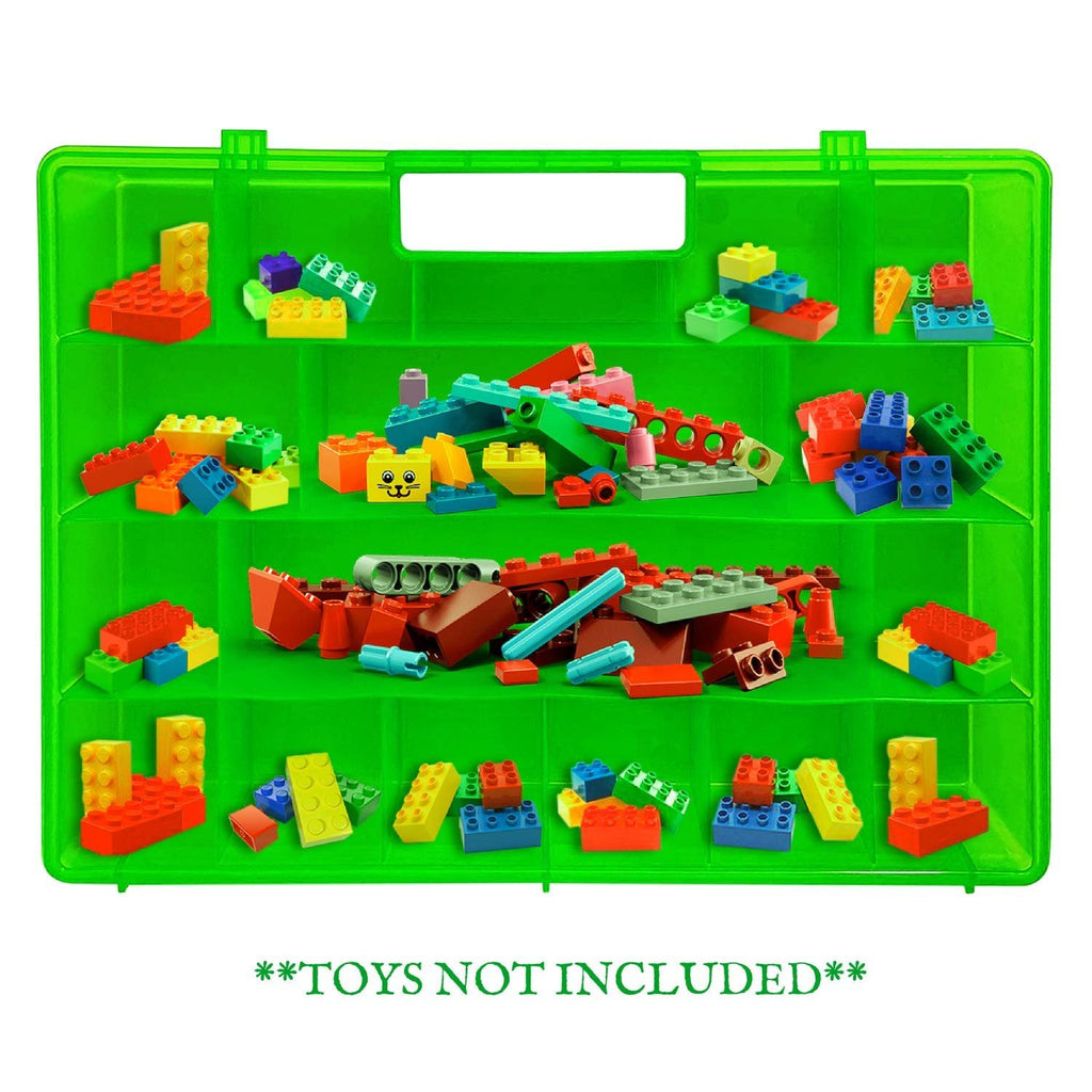Life Made Better Improved Durability, Building Bricks Organizer Case, Toy Storage Carrying Box. Compatible to Store Dozens of Legos & Building Bricks - Reinforced Toy Storage Organizer Accessory