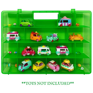 Life Made Better, Protective Storage Box, Compatible Green Toy Accessory Carrying Case for Shopkins Cutie Cars. Not Created by Shopkins