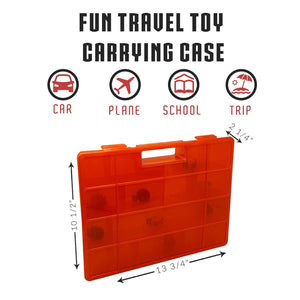 Life Made Better Red Easy-to-Use Toy Figures Storage Box. Compatible with Despicable Me Toys, Toy Accessories Organizer Case for Kids