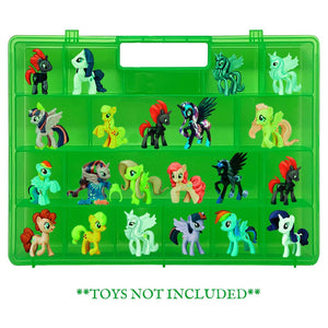 Life Made Better, Slim & Light Green Display Carry-Along Case for Kids Compatible with My Little Pony Mini Toys. Figurines Organizer