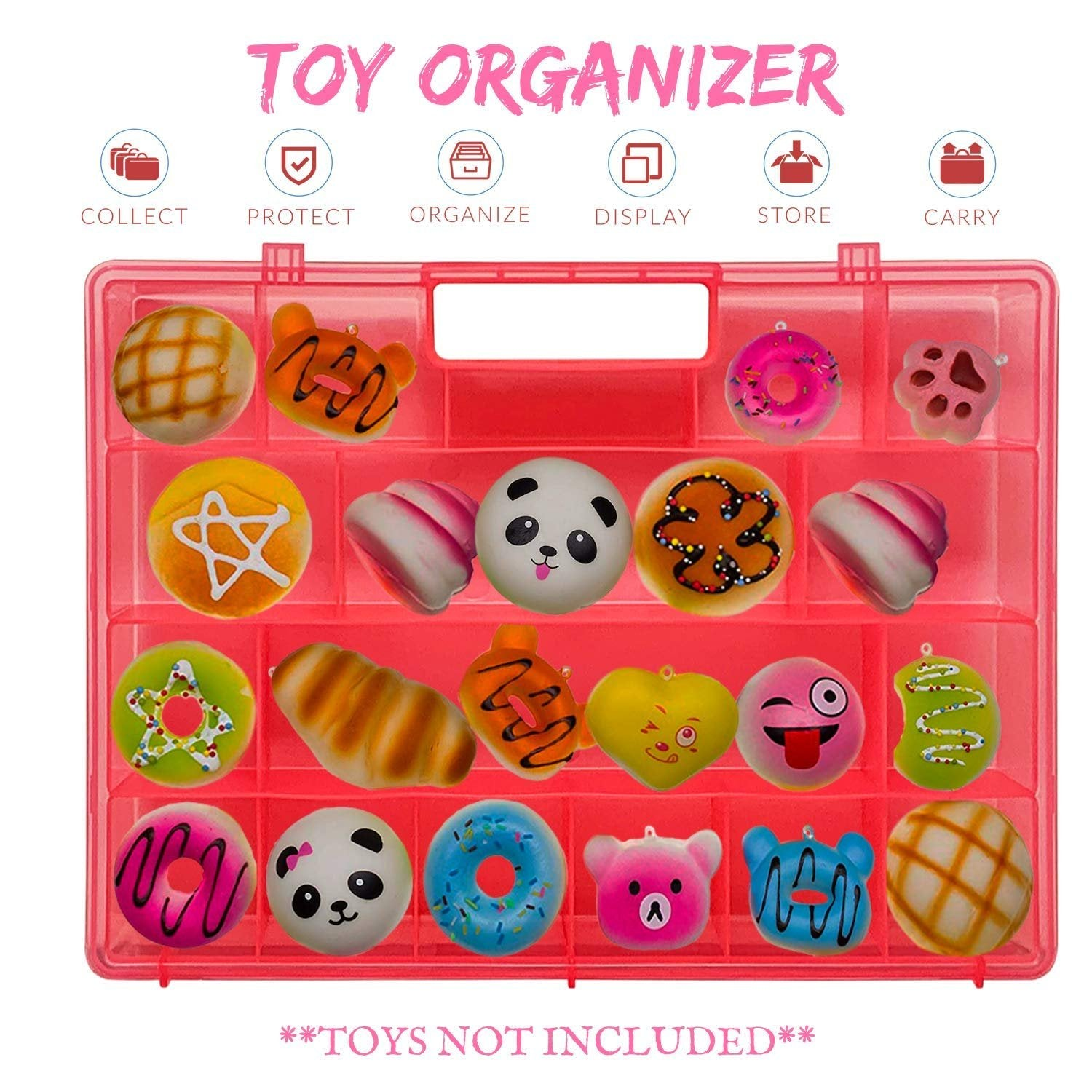 Life Made Better, New, Fun Pink Toy Storage Carrying Box, Compatible with Squishies, Kid-Friendly, Easy to Use Toy Accessories, Created