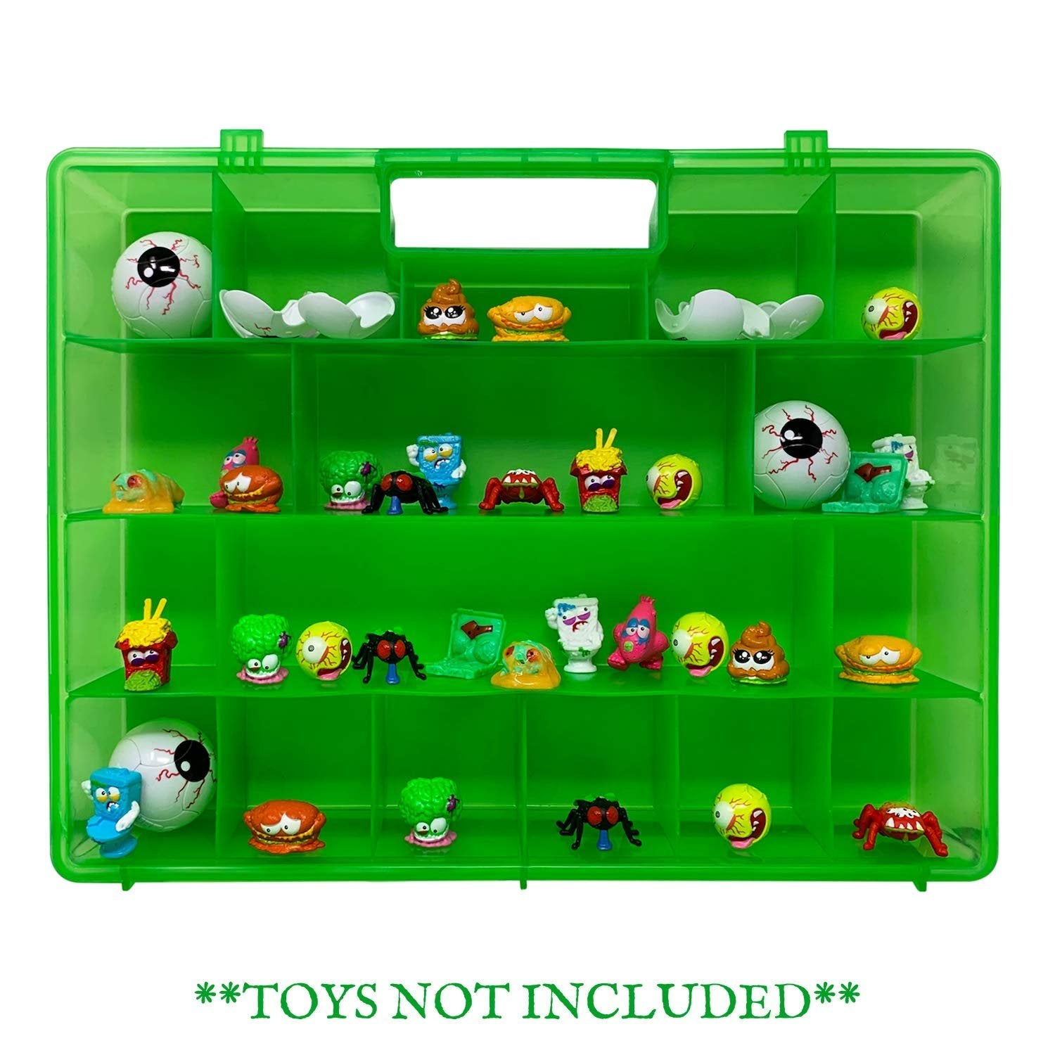 Life Made Better All-in-One Toy Organizer, Storage & Travel Case. Kid's Home Storage & Compatible with All Smashers Gross Mini Figures, Travel Case by LMB