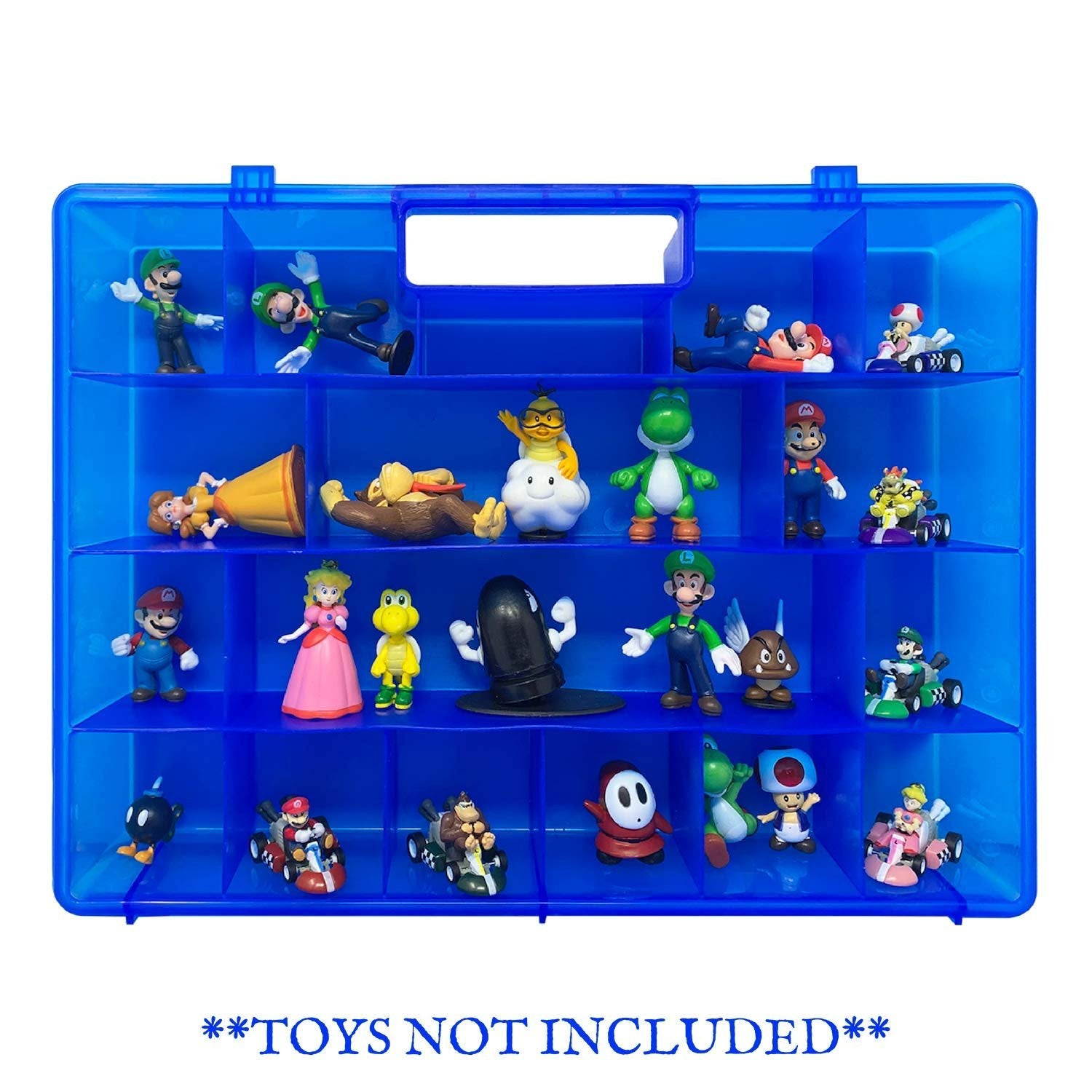 Life Made Better Toy Action Figure Organizer Case, Compatible with Mario Bros Action Figures, Toys Accessories