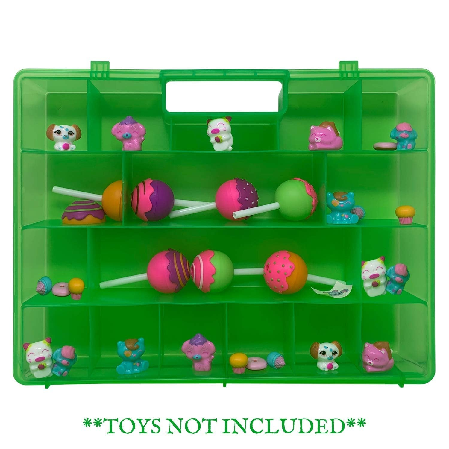 Life Made Better Toy Organizer, Compatible with CakePop Cuties Figurines, Sturdy Kid Storage Case by LMB