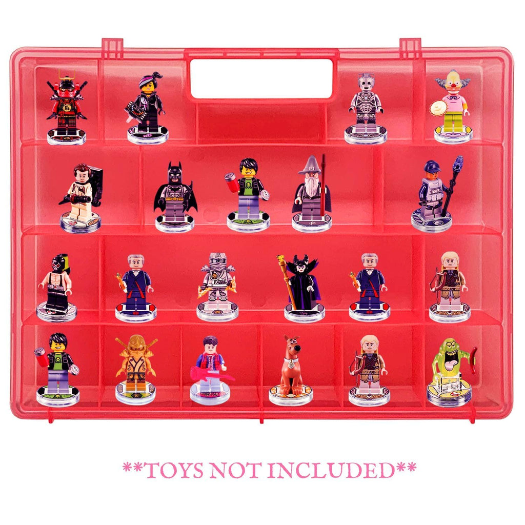 Life Made Better Dependable Long-Lasting Protective Portable Pink Storage Case, Compatible with Lego Dimensions Video Game Figures, not Made or Sold by Lego