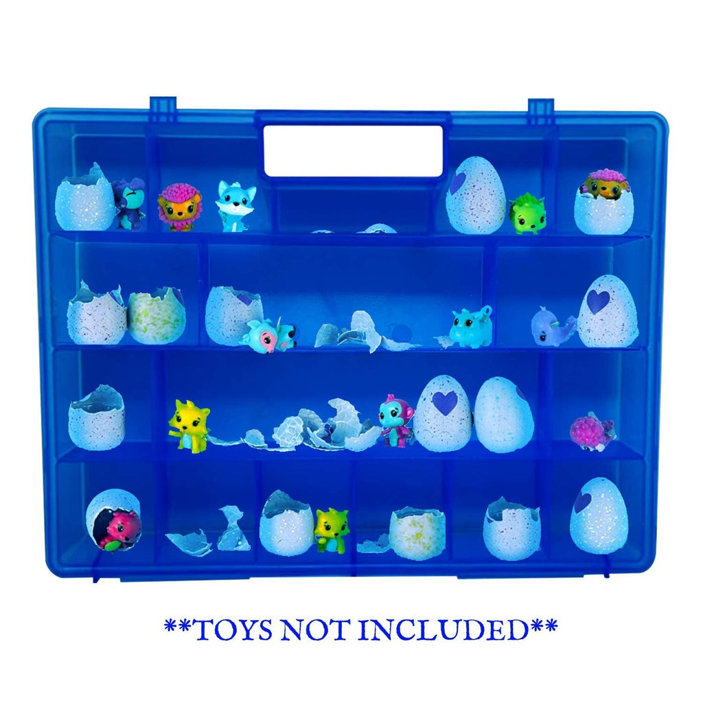 Life Made Better My Egg Crate Storage Organizer Compatible The Hatchimals Hatchimal Colleggtibles Brands - Durable Carrying Case Mini Eggs, Easter Eggs & Speckled Eggs – Blue