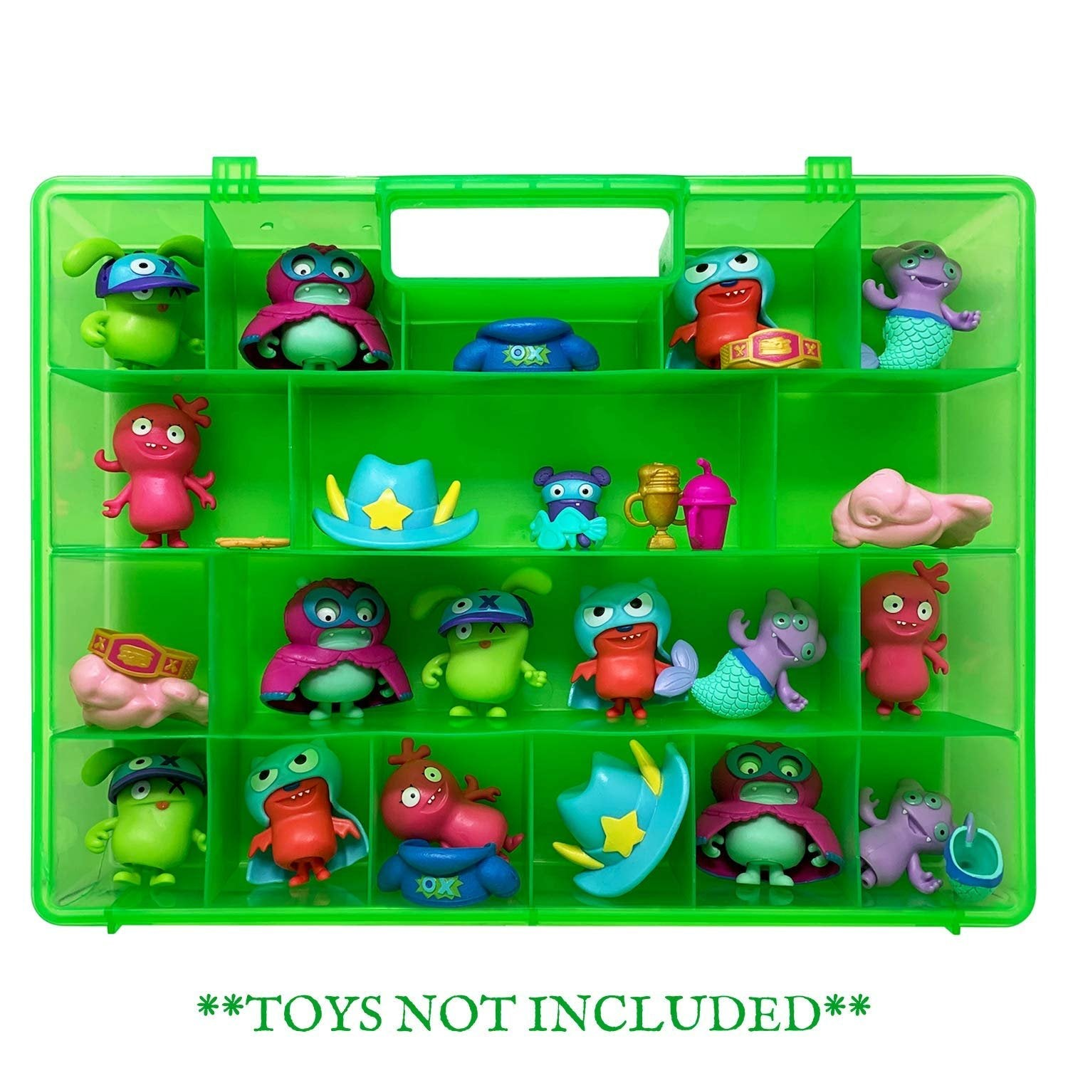 Life Made Better Case, Kid-Green Carrying Box with Compartments, Compatible with UglyDolls Figures, Fits Multiple Toys & Accessories Storage, Created