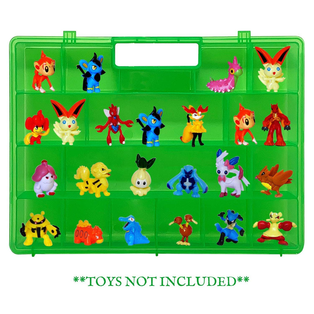 Life Made Better Green Toy Storage Organizer, Kid Friendly, Newly Upgraded Design, Compatible with Pokemon TM Action Figures, Made by LMB, Toy Accessories for Kids