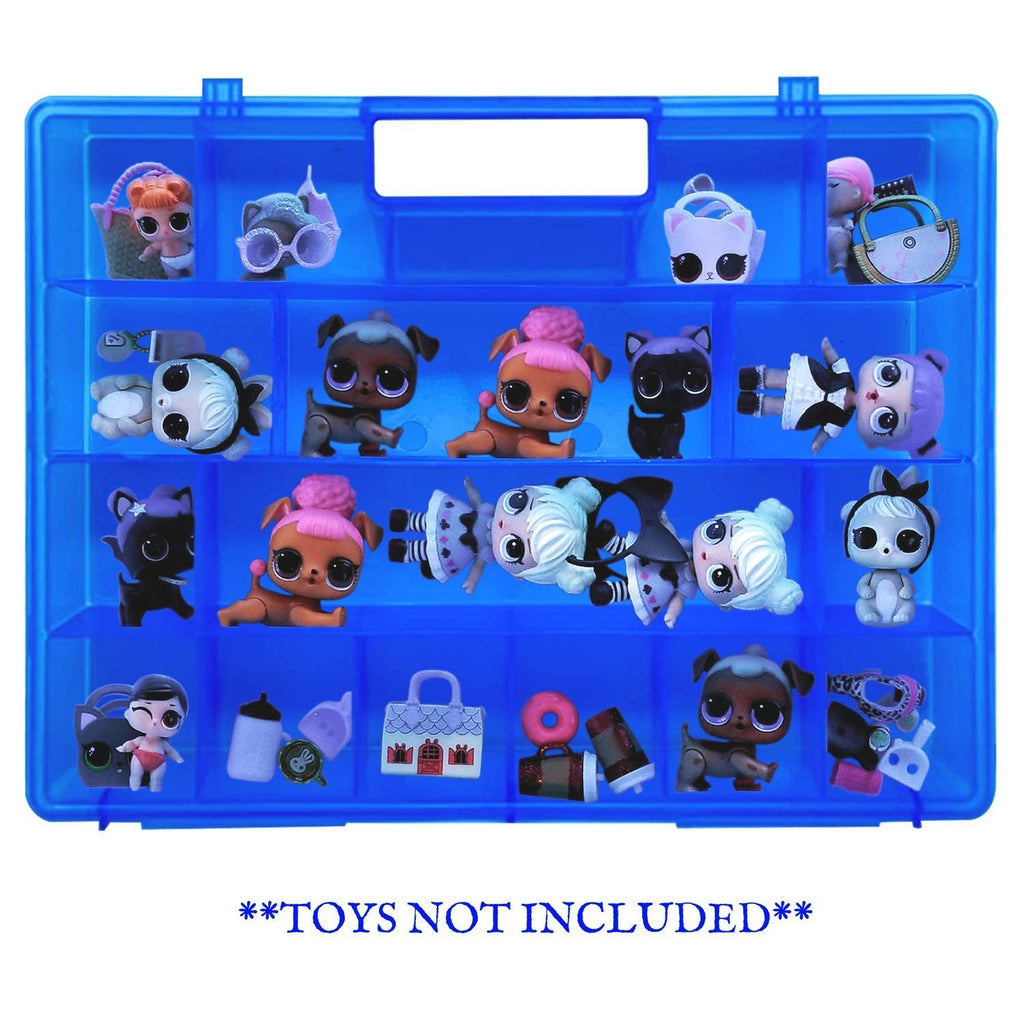 Life Made Better Durable & Kid Friendly Blue Toy Organizer Case for Dolls and Accessories, Sweet Gift Idea for Big Sister & Lil Sister