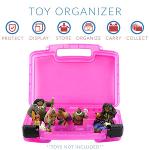 Moana Case, Toy Storage Carrying Box. Figures Playset Organizer. Accessories for Kids by LMB