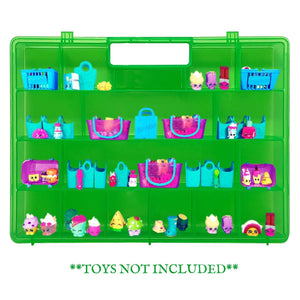 Life Made Better, Sturdy Storage Box with Molded Kid-Friendly Handle, Multiple Compartments for Fun Sorting & Storing, Compatible Carrying Case for Shopkins, Green