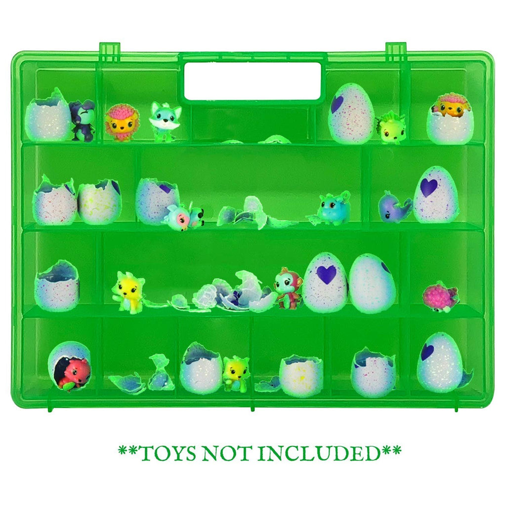 Life Made Better My Egg Crate Storage Organizer Compatible The Hatchimals Hatchimal Colleggtibles Brands - Durable Carrying Case Mini Eggs, Easter Eggs & Speckled Eggs – Green