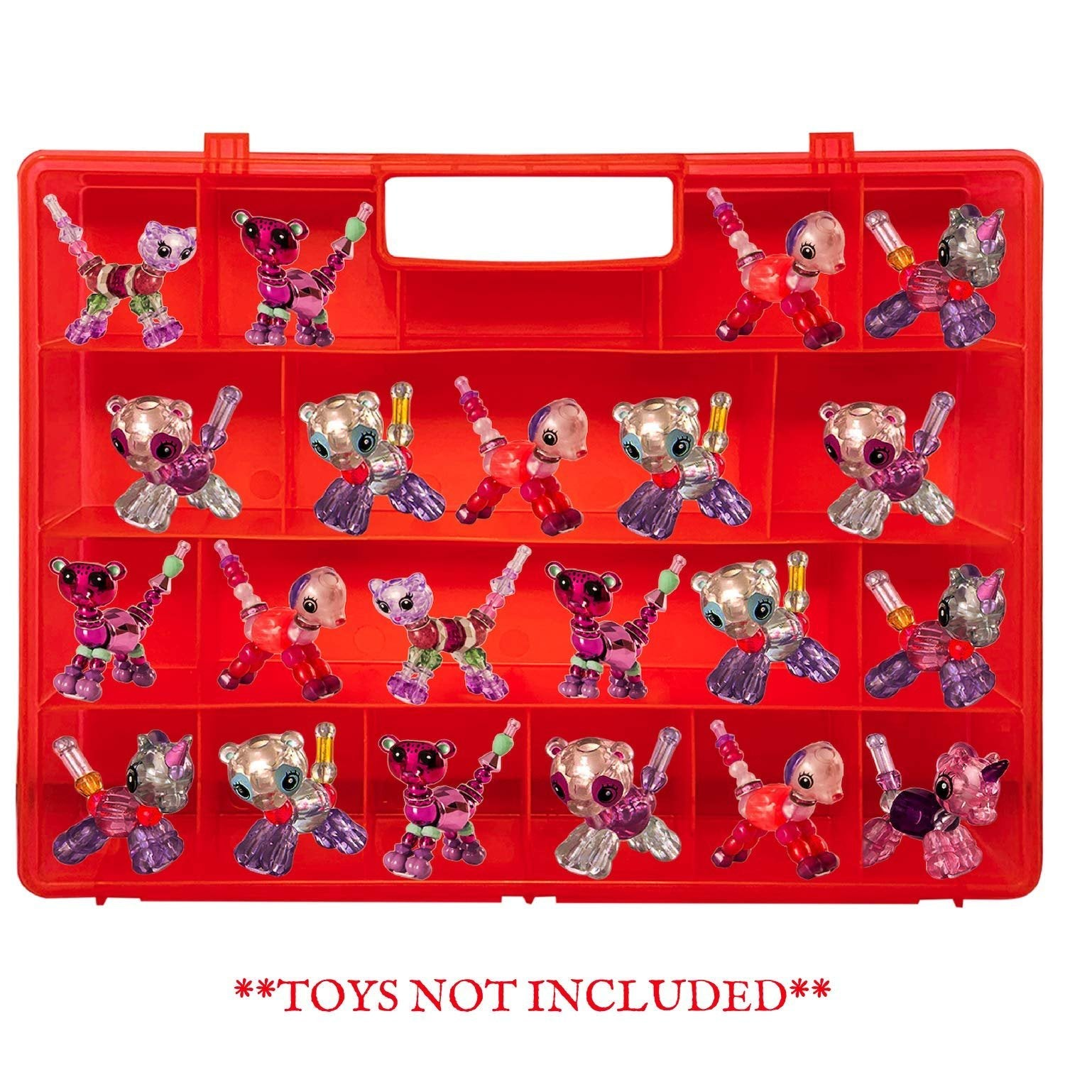 Life Made Better, Red Kid Proof Toy Case, Advanced 2.0 Design with Stable Hinges & Dependable Clasps, Compatible with Twisty Petz, not Made by Twisty Petz, Created by LMB