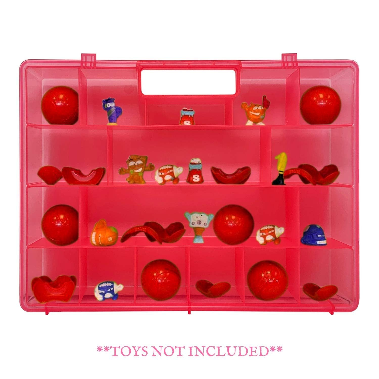 Life Made Better, Portable Pink Carrying Case, Works with Zuru Smashers, Toy Organizer not Made by ZuRu Smashers, Toy Accessories by LMB