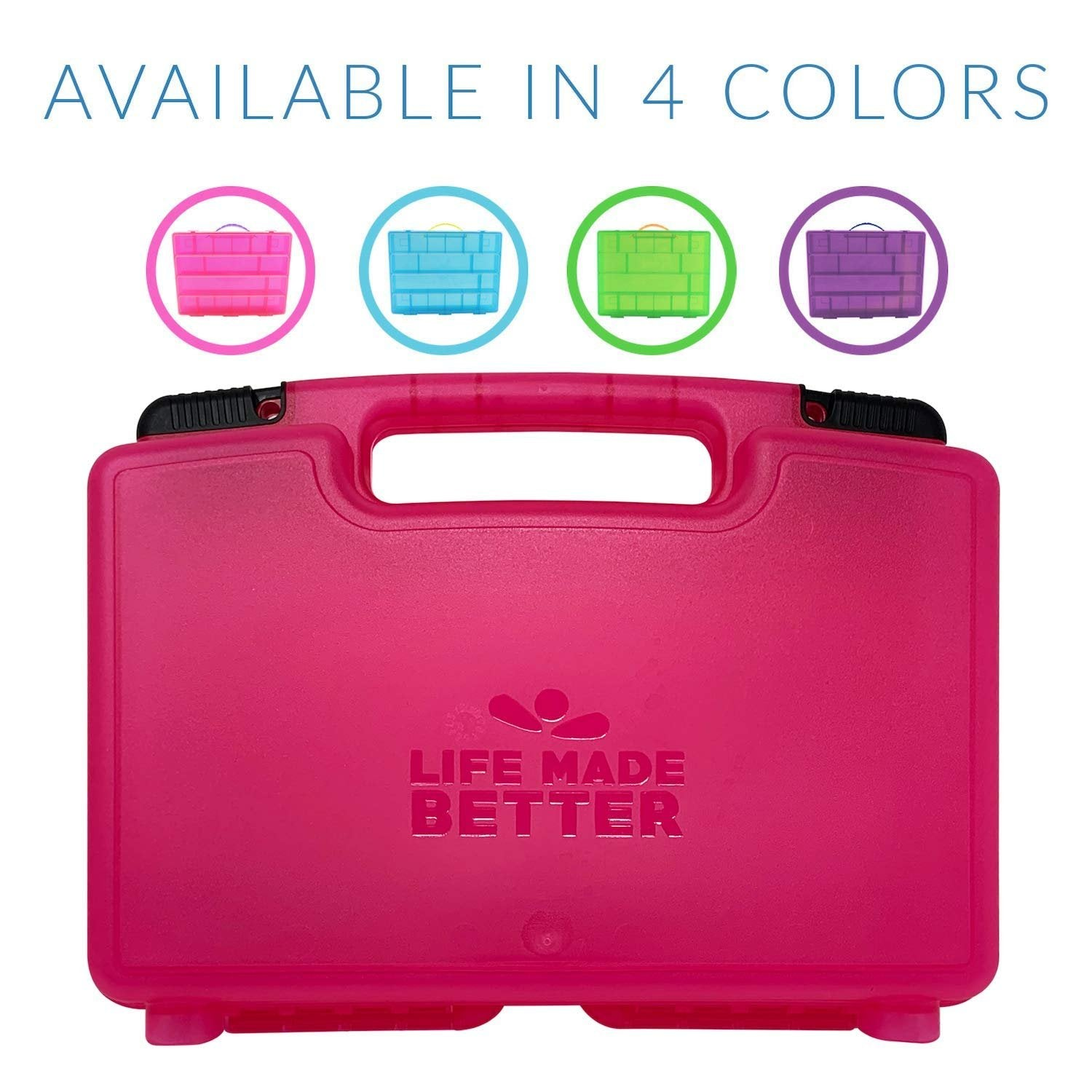 Life Made Better Doll Storage Carrier Compatible with Candylocks Toys, Fun-Pink Carrying Case w Secure Closer by LMB