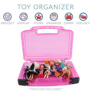 Enchantimals Case, Toy Storage Carrying Box. Figures Playset Organizer. Accessories For Kids by LMB