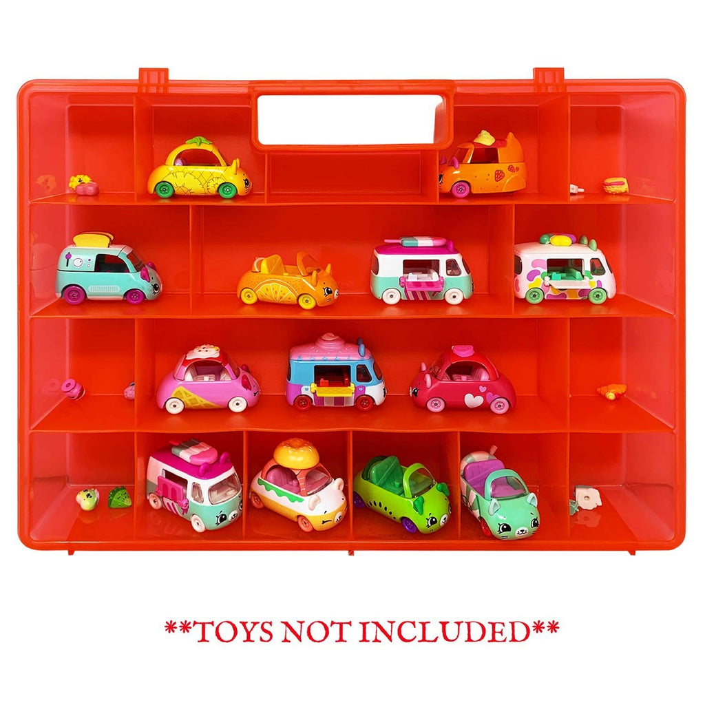 Life Made Better Fun Red Protective Storage Box, Compatible Toy Accessory Carrying Case for Shopkins Cutie Cars. Not Created by Shopkins