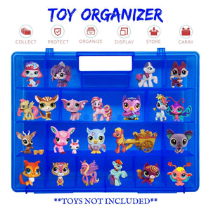 Life Made Better, Kid-Friendly, Reinforced Toy Organizer Storage Case, Compatible with Littlest Pet Shop Figures & Toys, Made for Kids by LMB