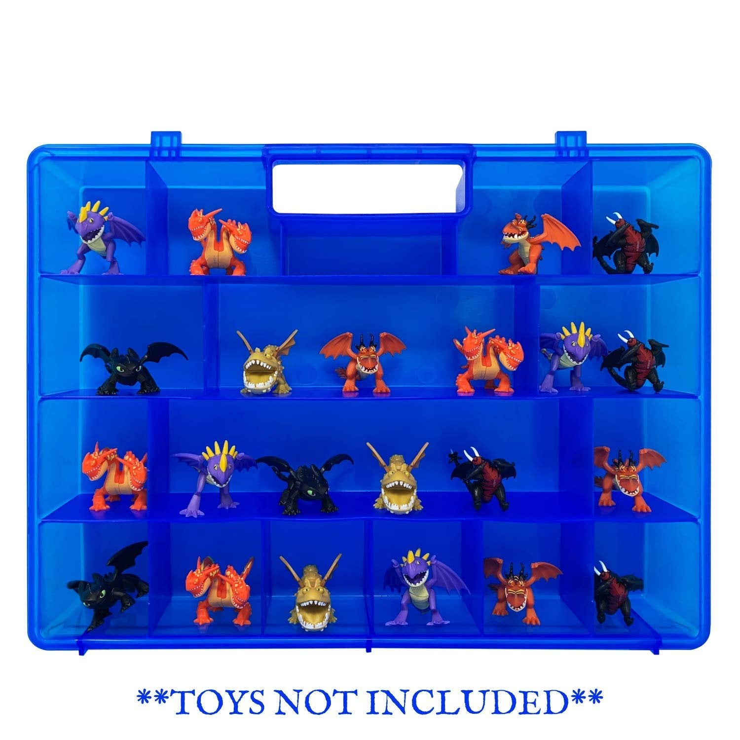 Life Made Better Toy Organizer, Compatible with Mystery Dragon Figures, Sturdy Kid Storage Case by LMB