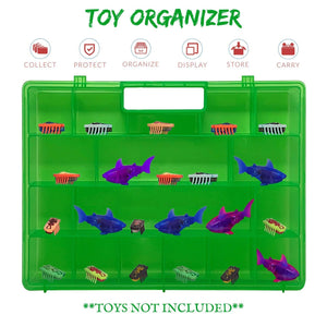 Life Made Better, Improved Green Toy Storage Organizer. Fits Up to 40 Bug Toys, Compatible with Hex Bug TM Toy Figures. Made by LMB