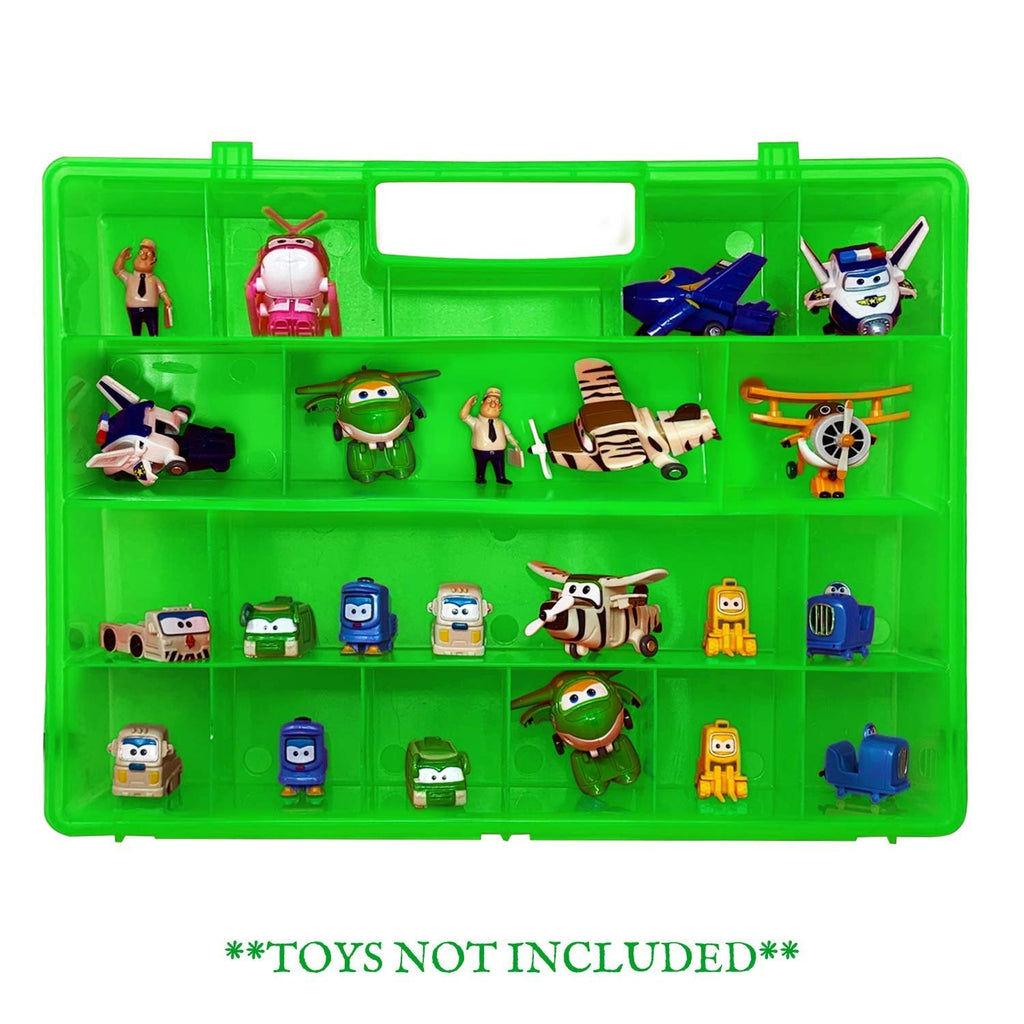 Life Made Better Green Toy Storage Organization Box, Compatible Carrying Case & Toy Accessory for Transform-a-Bots. Not Created by Transform-a-Bots