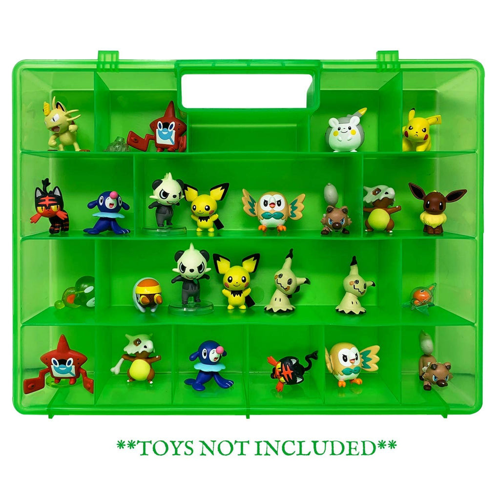 Life Made Better Green Protector Carrying Toy Case, Compatible with Pokemon Figures, This Box is Not Created by Pokemon