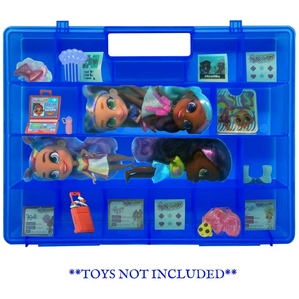 Life Made Better, Blue Doll Protector Case, Compatible with Hairdorable Dolls & Accessories, Protector Storage & Organizer Display Case, Made