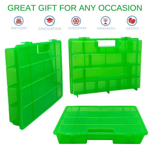 Life Made Better, Kid Foam Play Green Storage Case, Durable, Convenient Take-Along Toy Holder, Easy to Use Carrying Box. Figures Playset Organizer. Accessories for Kids by LMB