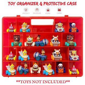 Life Made Better The New and Improved Stronger Carrying Case and Toy Storage Box in Red. Compatible with Funko Racers, Created by LMB