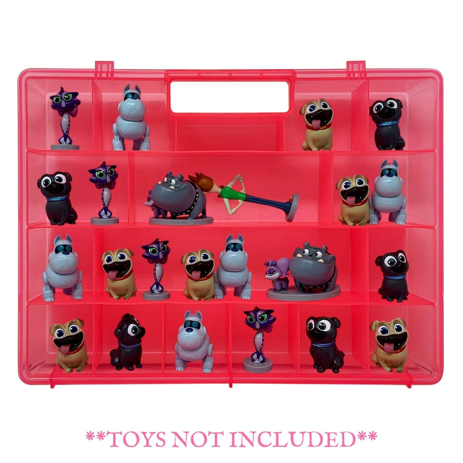 Life Made Better Durable, Sturdy Toy Organizer Case Compatible with Junior Puppy Dog PalsFigures - Kid Toys Accessory Case, not Made by Junior Puppy Dog Pals