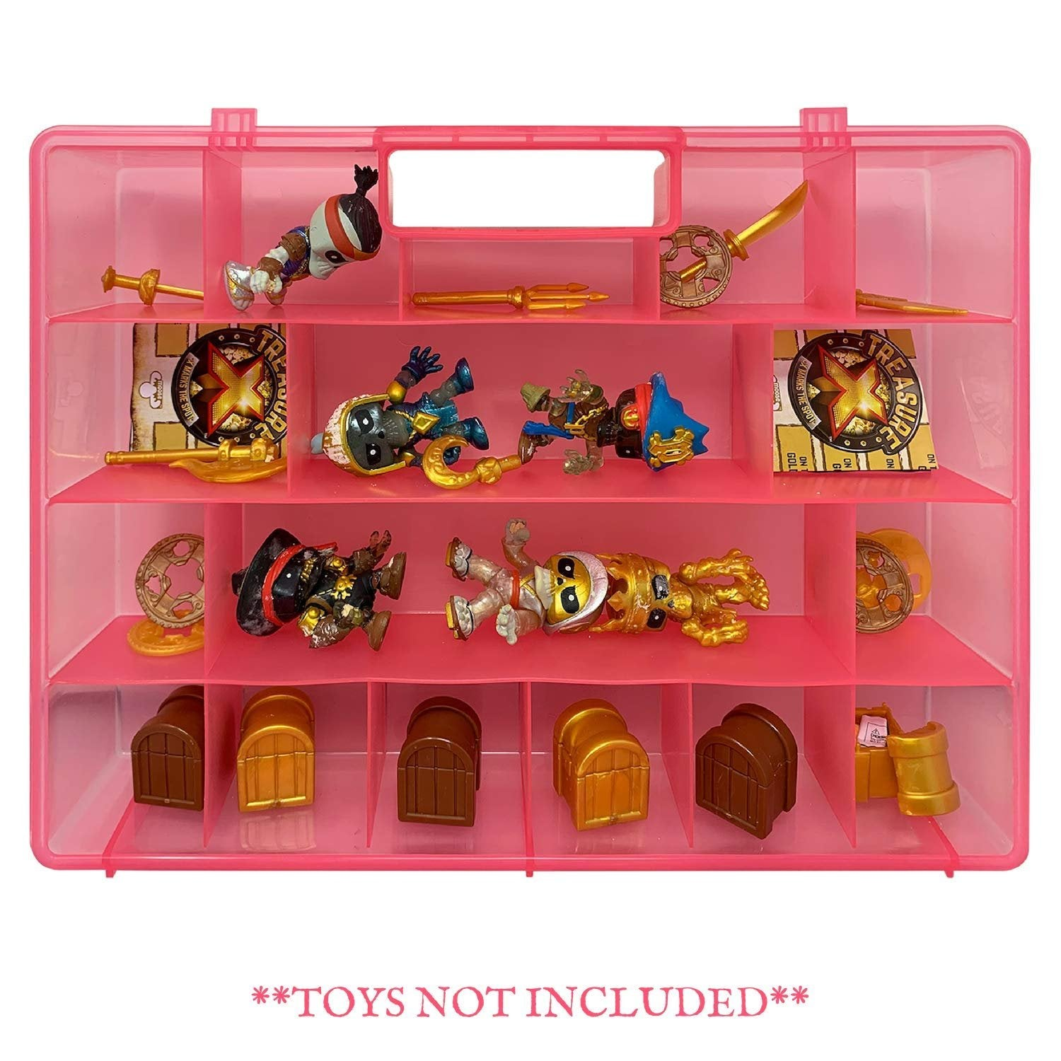 Life Made Better Portable Pink Toy Carrying Case & Organizer, Compatible with Treasure X and Other Figures. Not by Treasure X, Created by LMB