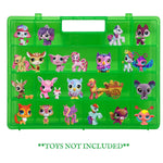 Life Made Better, Longer Lasting, New More Valuable Model, Fun Favorite Green Toy Storage Carrying Box Compatible with Littlest Pet Shop Figures & Toys, Made for Kids by LMB, Organize & Protect