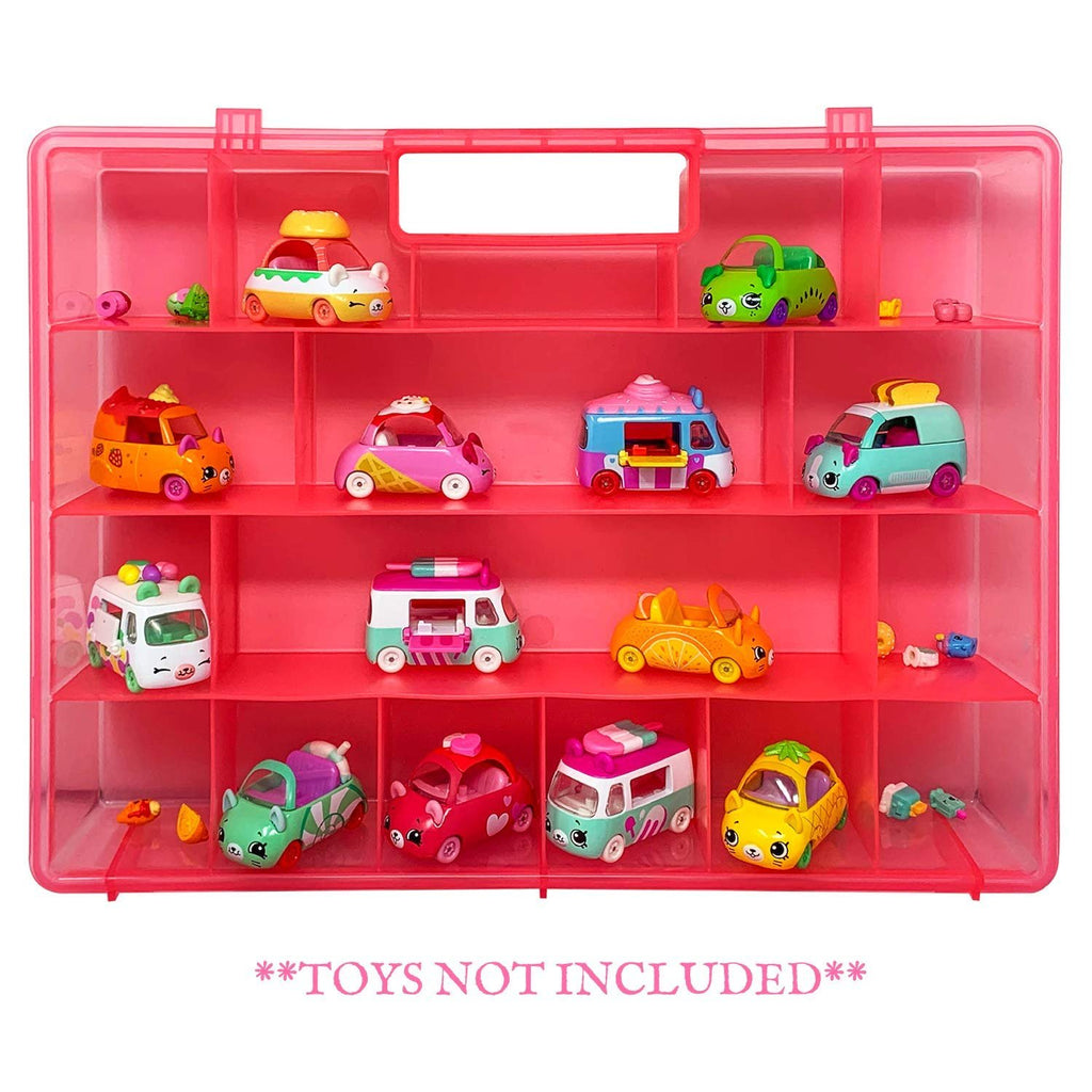 Life Made Better Durable Pink Storage Organizer, Compatible Toy Accessory Carrying Case for Shopkins Cutie Cars. Not Created by Shopkins